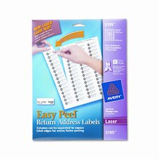 Easy Peel Laser Address Labels, 1500/Pack