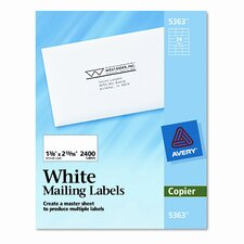 Self-Adhesive Address Labels for Copiers, 2400/Box