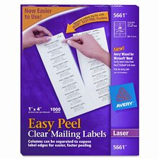 Easy Peel Laser Mailing Labels, 1000/Box
