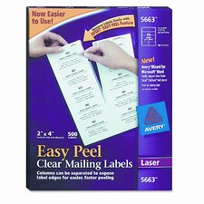 Easy Peel Laser Mailing Labels, 500/Box