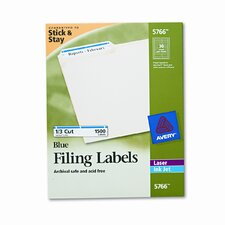 Self-Adhesive Laser/Inkjet File Folder Labels, 1500/Box