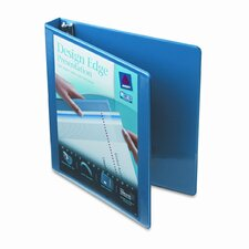 Design Edge Presentation View Binder, 1in Capacity, White