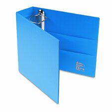 Heavy-Duty Vinyl EZD Ring Reference Binder, 3in Capacity, Blue