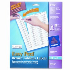 Easy Peel Inkjet Return Address Labels, 1500/Pack