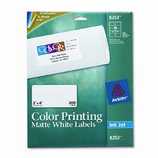 Inkjet Labels for Color Printing (200/Pack)