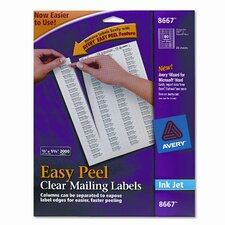 8667 Easy Peel Inkjet Mailing Labels (2000/Pack)