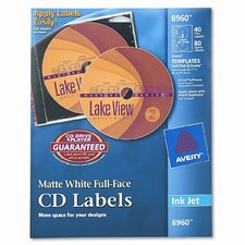 Inkjet Full-Face Cd Labels (40/Pack)