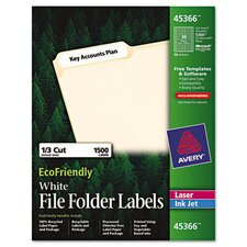 Ecofriendly Labels, 1500/Pack