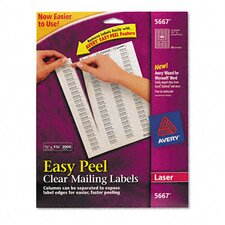 Easy Peel Laser Mailing Labels, 2000/Box