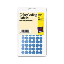 <strong>Avery Consumer Products</strong> Removable Self-Adhesive Color-Coding Labels, 840/Pack