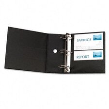 "Durable Slant Ring Locking Reference Binder with Label Holder and 5"" Gap"