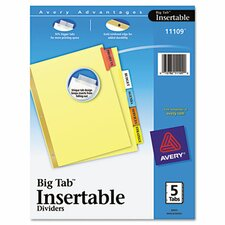 Worksaver Big Tab Reinforced Dividers (5 Tabs)