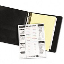 Worksaver Big Tab Reinforced Dividers with Clear Tabs (5 Tabs)