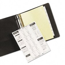Worksaver Big Tab Reinforced Dividers with Clear Tabs (8 Tabs)