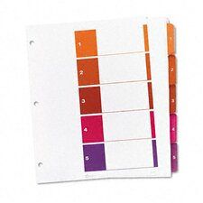 Ready Index Table/Contents Dividers (5 Tabs, 24 Sets/Box)