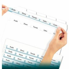 Index Maker Clear Label Dividers, 5-Tab, Letter, 5 Sets/Pack