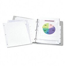 Index Maker Clear Label Dividers, 5-Tab, 11 1/4 X 9 1/4, 5 Sets