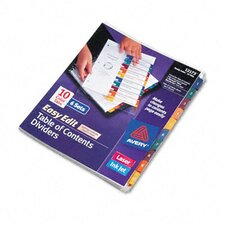 Ready Index Easy Edit Contents Dividers (6 Sets)