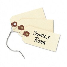 Paper/Double Wire Shipping Tags, 3 3/4 X 1 7/8 (1,000/Box)