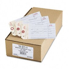 Duplicate Inventory Tags, Bond Top Copy, 6 1/4 X 3 1/8, 500/Box