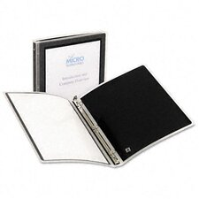 "Flexi-View Round-Ring Presentation View Binder, 1/2"" Capacity"