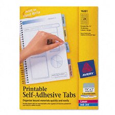 Printable Repositionable Plastic Tabs (96/Pack)