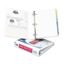 "Durable Vinyl Slant D Ring View Binder, 11 X 8-1/2, 1-1/2"" Capacity"