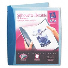 "Silhouette Flexible Poly View Binder, 1"" Capacity"