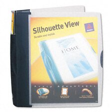 "Silhouette Poly View Binder with Inside Pocket, 1-1/2"" Capacity"