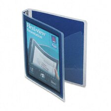Flexi-View Round-Ring Presentation View Binder, 1in Capacity