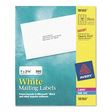 Inkjet Address Labels, 1 X 2-5/8 (300/Pack)