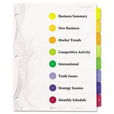 Designer Ready Index Dividers, Multicolor 8-Tab, 11 x 8-1/2, 3 Sets/Pack