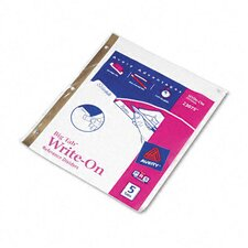 Big Tab Write-On Dividers with Erasable Laminated Tabs (5/Set)