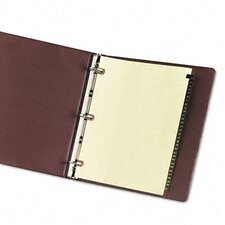 Copper Reinforced Leather Tab Dividers, 31-Tab, 1-31 Tab Title (Set of 31)