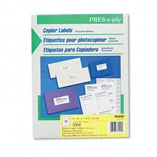 Pres-A-Ply Copier Labels, 3300/Box