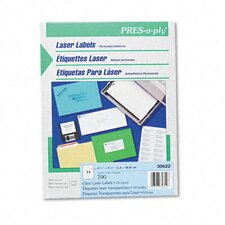 Pres-A-Ply Laser Address Labels, 1-3/4 x 1, Clear, 700/Box