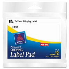 <strong>Avery Consumer Products</strong> Label Pads, 40/Pack