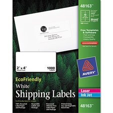 Ecofriendly Labels, 1000/Box