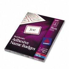 Flexible Self-Adhesive Laser/Inkjet Name Badge Labels, 400/Box