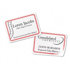 Flexible Self-Adhesive Laser/Inkjet Name Badge Labels, 400/Box