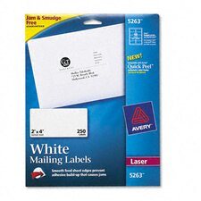 "Shipping Labels with Trueblock Technology, 4"" Wide, 250/Pack"