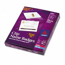 Badge Holders with Laser/Inkjet Inserts, 40/Box