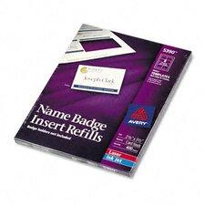 Additional White Laser/Inkjet Inserts, 400/Box