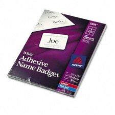 "Flexible Self-Adhesive Laser/Inkjet Name Badge Labels, 2.33"" Wide, 400/Box"