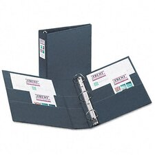 "Heavy-Duty Vinyl Ezd Ring Reference Binder, Label Holder, 2"" Capacity"