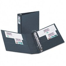 "Heavy-Duty Vinyl Ezd Ring Reference Binder, Label Holder, 3"" Capacity"