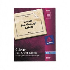 Full-Sheet Inkjet Labels (25/Pack)