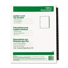 Office Essentials Printed Tab Index Divider Set