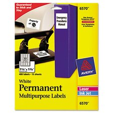 Permanent Id Laser Labels, 480/Pack