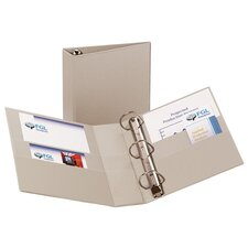 "Heavy-Duty EZD Binder, 11""x8-1/2"", Gray, 3"" Capacity"